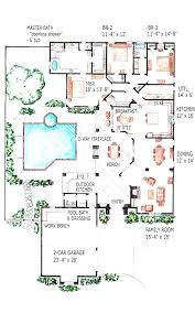 attractive home plan with indoor pool house swimming floor design a po amusing sport court basketball balcony courtyard lap gym