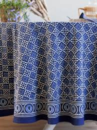 starry nights designer batik blue round india tablecloth