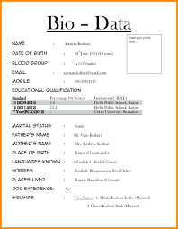 biodata form job application biodata sample job application resume bio data format download