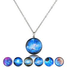 <b>2019</b> Trendy <b>Women Necklace Pendants Galaxy</b> Space Charm ...