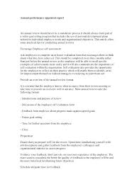 Employee Evaluation Report Template Appraisal Report Sample