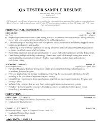 Testing Analyst Resume Automation Test Engineer Sample Software