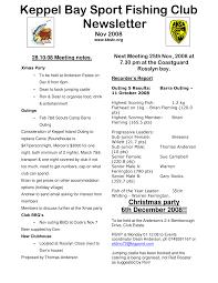 Keppel Bay Sport Fishing Club Newsletter