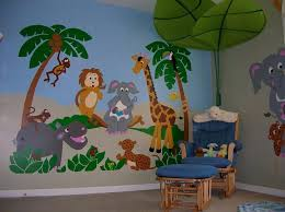 jungle story large paint by number wall mural decals