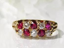 antique ruby diamond wedding band 0 30ctw old mine cut diamond antique enement ring 18k gold diamond wedding ring july birthstone ring