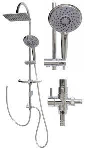 Details Zu Duschset Duschsystem Duschkopf Regendusche Duscharmatur Brausestange 120cm Chrom