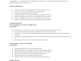 Resume Format For Beautician Resume Template Ideas