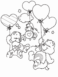 Small Picture Care Bears Coloring Pages chuckbuttcom