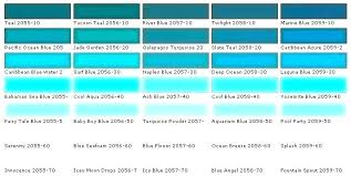 Aqua Color Chart Different Shades Of Turquoise Teal Color Chart Polsa Info