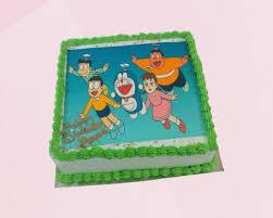 Doraemon Team Photo Cake Online Cake Delivery Kanpur