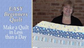Quilting for Beginners - The Easiest Quilt Ever - Alanda Craft &  Adamdwight.com