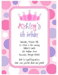 spectacular princess theme birthday invitation cards birthday affordable princess party invitation wording ideas