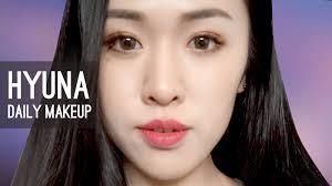 insram makeup tutorial 2016 08 23 korean everyday makeup hyuna eng 中文 2016 07 31
