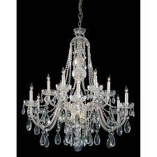 crystorama lighting group traditional crystal swarovski spectra crystal polished brass eleven light chandelier