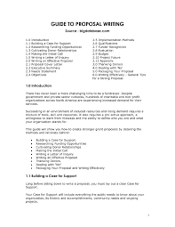 Non Profit Grant Proposal Template It Resume Cover Letter Sample
