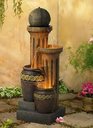 outdoor lighting small fountains for backyard waterfall fountain deck fountain pond waterfall from outdoor