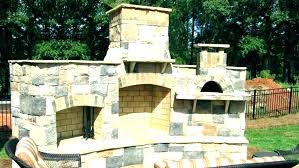 corner fireplace patio covered pizza oven outdoor construction