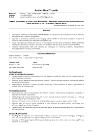 Materials Manager Resume Supply Chain Management Resume Entry Level Best Of Materials Manager 8