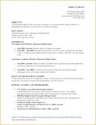 Resume For High School New Scholarship Resume Samples High School Templates Examples Of Good R