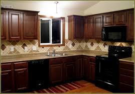 kitchen tile backsplash ideas with cherry cabinets home awesome backsplash ideas for cherry cabinets