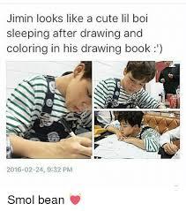 books cute and book jimin looks like a cute lil boi sleeping after