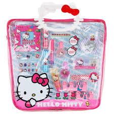 Hello Kitty Mega PVC Tote Bag with Cosmetics ** Find out more details by  clicking