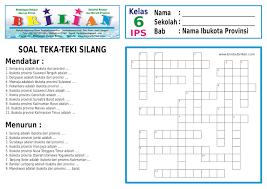Also diminum saat sakit : Soal Teka Teki Silang Tts Kelas 6 Sd Perihal Nama Ibukota Provinsi Di Indonesia Bimbelbrilian