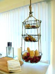 hanging baskets for kitchen or hanging fruit baskets wall ideas spice  storage mounted basket produce kitchen