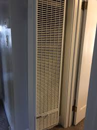 it looks old but this is a new wall heater that was necessary to heat