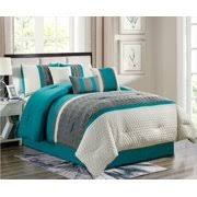 turquoise and gray bedding. Modren Gray Enas 7Piece Comforter Set Turquoise U0026 Gray Embroidered Bedding California  King Size Intended And