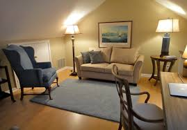 Her combination office and guest room ...