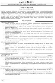 Sample Resume Of A Project Manager Best Of Project Manager R Fresh Construction Project Manager Resume Sample