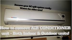 how to remove air conditioner unit
