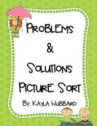 Problem And Solution Picture Sort Teachers Pay Teachers