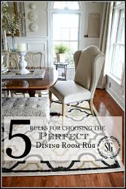 size of rug for dining room. Interesting Rug 5 RULES FOR CHOOSING THE PERFECT DINING ROOM RUGNo Nonsense Sensibe  Advice For To Size Of Rug For Dining Room I