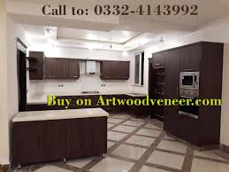 Wooden Veneer Home Kitchen Cabinets Available In Lahore