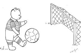 Small Picture A Cute Bear Doing a Penalty Kick on Soccer Game Coloring Page