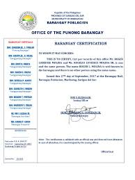 Barangay Certificate Of Indigency Politics Crime Justice