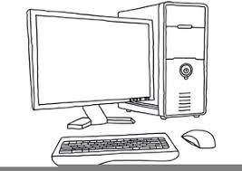 Computer Clip Art Clipart Computer Black And White