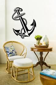 beautiful nautical theme 3d feel anchor