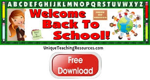 Free Welcome Back To School Bulletin Board Display Banner