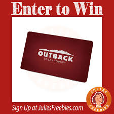 here is an offer where you can enter to win an outback gift card from extra