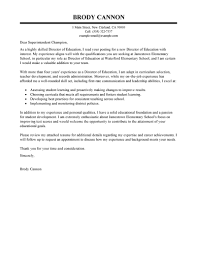 Education Cover Letter Template Leading Professional Director Cover Letter Examples