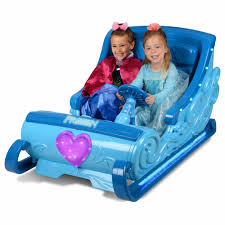 disney frozen sleigh 12 volt battery powered ride on for your little elsa and anna hours of fun walmart