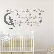 baby boys girls nursery bedroom wall stickers le le little star wall stickers e decor decals with fairy on moon kd