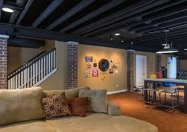 basement ceiling lighting ideas. Basement Ceiling Ideas Exposed Beams Painted Lighting