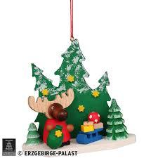 Christbaumschmuck Elch Weihnachtsmann Im Wald 86 Cm Von