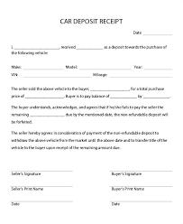 Deposit Receipt Sample Rental Deposit Receipt Rental Security Deposit Receipt Sample