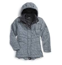 warmest kids winter coats the north face indi 2 hooded knit parka