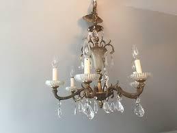 vintage spanish ornate 6 arm brass chandelier hanging light fixture